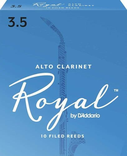 Rico Royal 3.5 Strength Reeds for Alto Clarinet (Pack of 10) - RDB1035